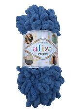 Alize Puffy Yarn 374 Denim 100g ball