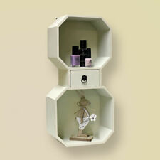 White shelf +Pink open Heart Shaped Jewellery / Trinket Box Organiser Storage