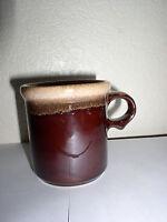 "McCoy Mug - 3 5/8"" #1412- Dark Brown Drip Design"