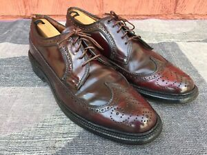 VTG Florsheim Imperial Shell Cordovan Men's Wingtip Shoes Sz 9.