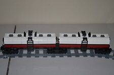 "NEW Lego Train Custom White/Dark Red Dual Tanker Car 17"" inches long"