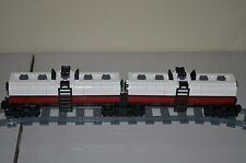 "NEW Lego Train Custom White/Dark Red Dual Tanker Car 17"" inches long"
