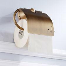 Toilet Paper Roll Holder Tissue Hook Bathroom Full Copper Retro Style Storage