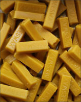5 -1 OZ BARS OF REAL 100% PURE BEESWAX FILTERED BLOCKS NEVER CUT