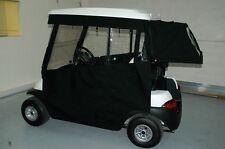 SUNBRELLA  EZGO CLUB CAR PRECEDENT GOLF CART CABANA BAG COVER BLACK LINEN TWEED