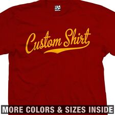 Custom Baseball Script T-Shirt - Personalized Your Text Tail More Sizes & Colors