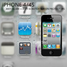 [6 Pack] iphone 4 4S Screen Protector Anti-Glare Matte  Front Back