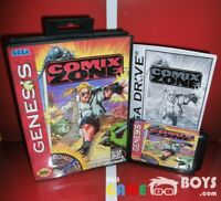 Comix Zone Game Cartridge for SEGA Genesis Complete Boxed + Manual USA NTSC-U/C