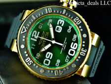 Invicta Men's 52mm Pro Diver OCEAN VOYAGER 18K Gold Plated SS Green Dial Watch