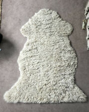 Genuine Sheepskin Rug Used Beige