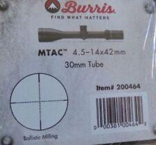 NEW Burris 200464 MTAC 30mm 4.5-14x42 Riflescope balistic milling Reticle