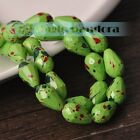 8x12mm/10x15mm Czech Glass Faceted Loose Spacer Teardrop Jewelry Findings Beads