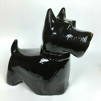 Vintage Metlox Pottery Ceramic Black Scotty Scottie Dog Cookie Jar Made in USA