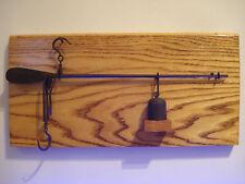Antique Oak Board Steelyard Beam Hand Scale J.P. Shumway circa 1850 Americana