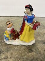 Rare Snow White & Dwarfs Disney Magic Christmas Ceramic Figurine Grumpy