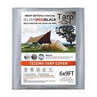 Tarps Heavy Duty Waterproof 6x9ft,TEZONG Poly Tarpaulin Multipurpose Tarp Covers
