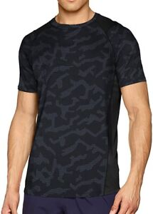 Under Armour MK1 Printed Short Sleeve Mens Running Top - Black