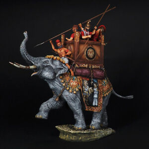War elephant of King Pyrrhus, ancient wars, 54 mm