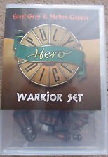 HERO POLY DICE SET WARRIOR STEEL GREY & MOLTEN COPPER WEAPONS DICE SET AD&D MERP
