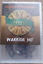 Poly Dados Juego héroe guerrero Gris Acero & armas de cobre fundido Dados Set AD&D MERP