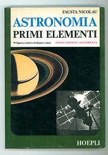 NICOLAU FAUSTA ASTRONOMIA PRIMI ELEMENTI HOEPLI 1982