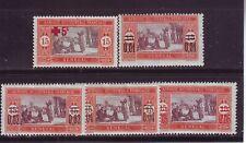 Französische Kolonie Senegal 1915/22 Mi.Nr.70* u. 87/90*