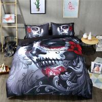 Halloween Nightmare Skull HD Print Duvet Cover Pillow Cases Quilt Cover Bed Set