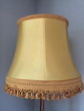 "PRELOVED 1930-50s LARGE GOLD BRAID/FRINGE FLOOR LAMP SHADE 21 3/4"" W x 17"" T"