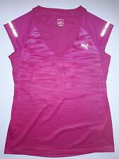 PUMA Sz M - Cap Sleeve reflective running Top - Pink