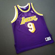 100% Authentic Nick Van Exel Vintage Champion Lakers Jersey Size 44 L M - kobe