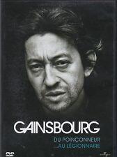 DVD SERGE GAINSBOURG DU POINCONNEUR AU LEGIONNAIRE