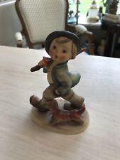 Old MJ Hummel Figurine:Little boy with Dog