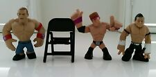 WWE Set of 4 John Cena, Evan Bourne, Zack Ryder Rumblers & 1 Chair (New No Tags)