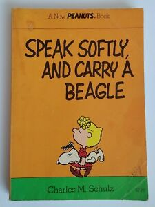 "VINTAGE 1975 PEANUTS Book ""Speak Softly and Carry a Beagle"" Charles M. Schulz"