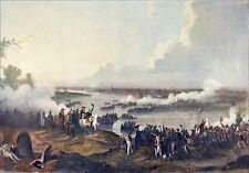 PASSAGE du RHIN de L'ARMÉE FRANÇAISE à DÜSSELDORF (1795)- Planche couleur du 19e
