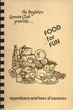 *BOYLSTON MA 1984 LIONESS CLUB *FOOD FOR FUN COOK BOOK *LOCAL ADS *MASSACHUSETTS
