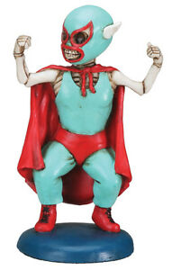 NEW! Day of the Dead Mini Luchadore Masked Wrestler Figurine DOD Statue 7896