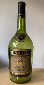 VINTAGE MARTELL EMPTY GREEN GLASS COGNAC BOTTLE 3.78L COINS JAR PIGGY BANK