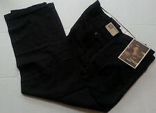 Haggar Black Label Blue  Pants 40 x 32 Pleat Front  Cuffed Career Office