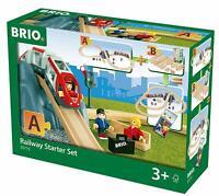 BRIO World - 33773 Railway Starter Set 26 PCs Toy Train with Accessories, Age 3+