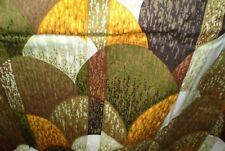 Vintage Retro Brown,Green,Yellow GEOMETRIC Print PVC Coated Fabric (55cm x50cm)
