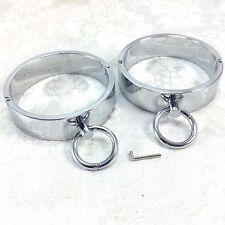 Heavy Locking Handcuffs Cuffs Wrist Anklets Steel Chrome Attachment Circlets