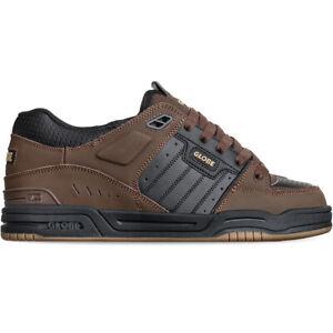 Globe Skateboard Shoes Fusion Black/Brown/Gum Mens