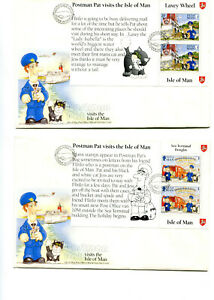 Isle of Man 1994 Set of 6 Postman Pat Booklet Panes FDC's