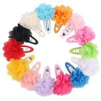 10pcs Chiffon Blumen Baby Mädchen Haarspangen Haarspangen Headwear