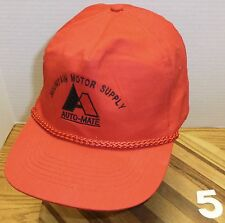 VINTAGE MOUNTAIN MOTOR SUPPLY AUTO-MATE HAT SNAPBACK VERY GOOD CONDITION RED