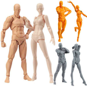 Action Figure Drawing Model Male Female Mannequin Doll Figurine PVC Body Toy