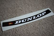 Dunlop Visor Helmet Sunstrip Sport Racing Motorbike Bike Decal Sticker Black