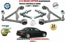 Pour Jaguar S TYPE 1999- > 2X Arrière Supérieur Suspension Bras de Set + Boulons