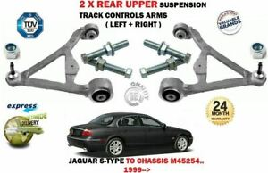 FOR JAGUAR S TYPE 1999-> 2X REAR UPPER SUSPENSION TRACK CONTROL ARMS SET + BOLTS